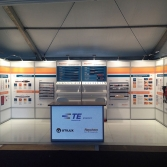 Product demonstration/sample and informational exhibit stand