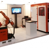 Mid-size specialised industrial product display & demonstration stand
