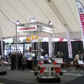 Large format open plan custom exhibition space