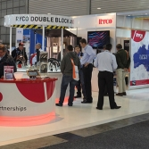 Exhibition stand in action
