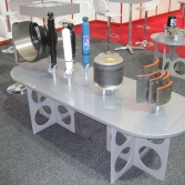 Meritor custom product stands