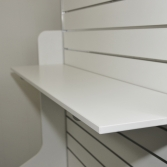 Slatwall unit with shaped ends