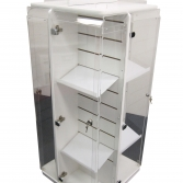 Fourway Rotating Security Slatwall Unit