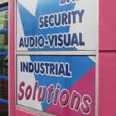 Window applied signage