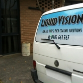 Vehicle window and building entry graphics
