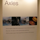 Axles sign (Meritor stand)