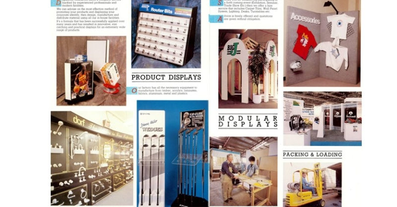 Blast from the Past – Product Display Brochure
