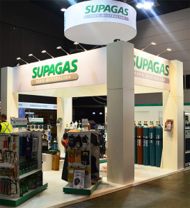 Supagas exhibition stand at NMW 2015