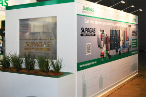 Supagas exhibition stand wall branding banner